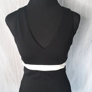 Express Small Crop Top Dressy Black with White